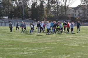 The girl's lacrosse team prepares for their spring season Photo by Rachel Finley