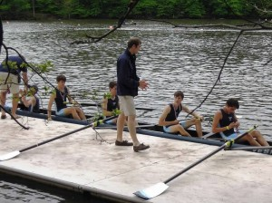 The Lightweight 4 receives their medals after their race. Photo Courtesy of Yorktown Crew