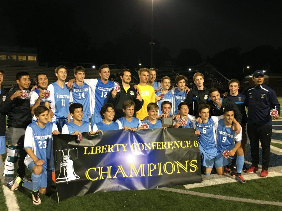 The+varsity+boys+soccer+team+enjoyed+a+tremendous+season%2C+in+which+they+won+a+conference+championship+and+advanced+to+states