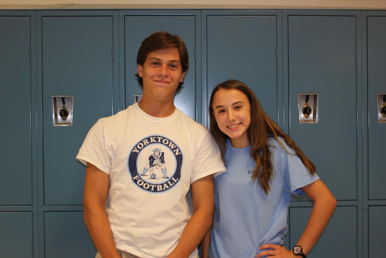 Rosie Eldridge and Nick Warnement smiling for the camera!