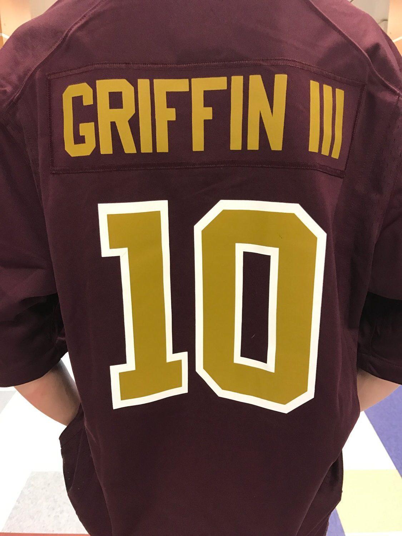 Redskins jerseys are seen around school