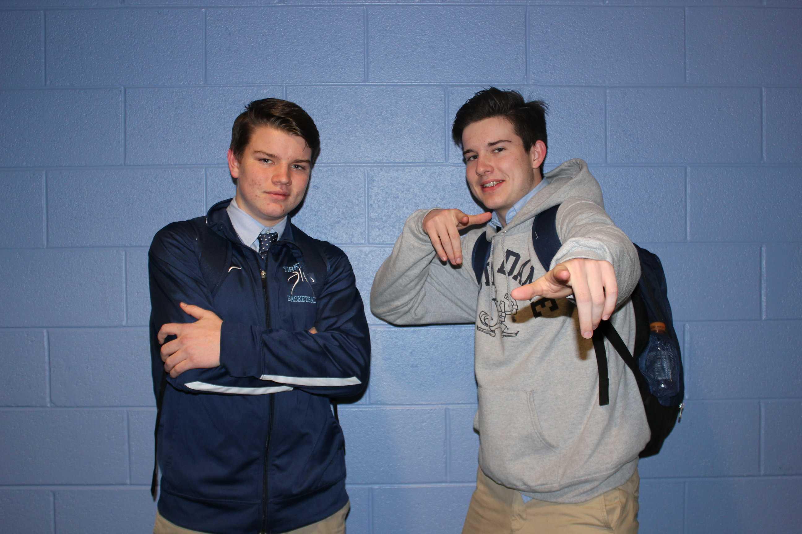 Sophomore Ryan Van Kirk and Senior Connor Van Kirk, are both on the varsity basketball team