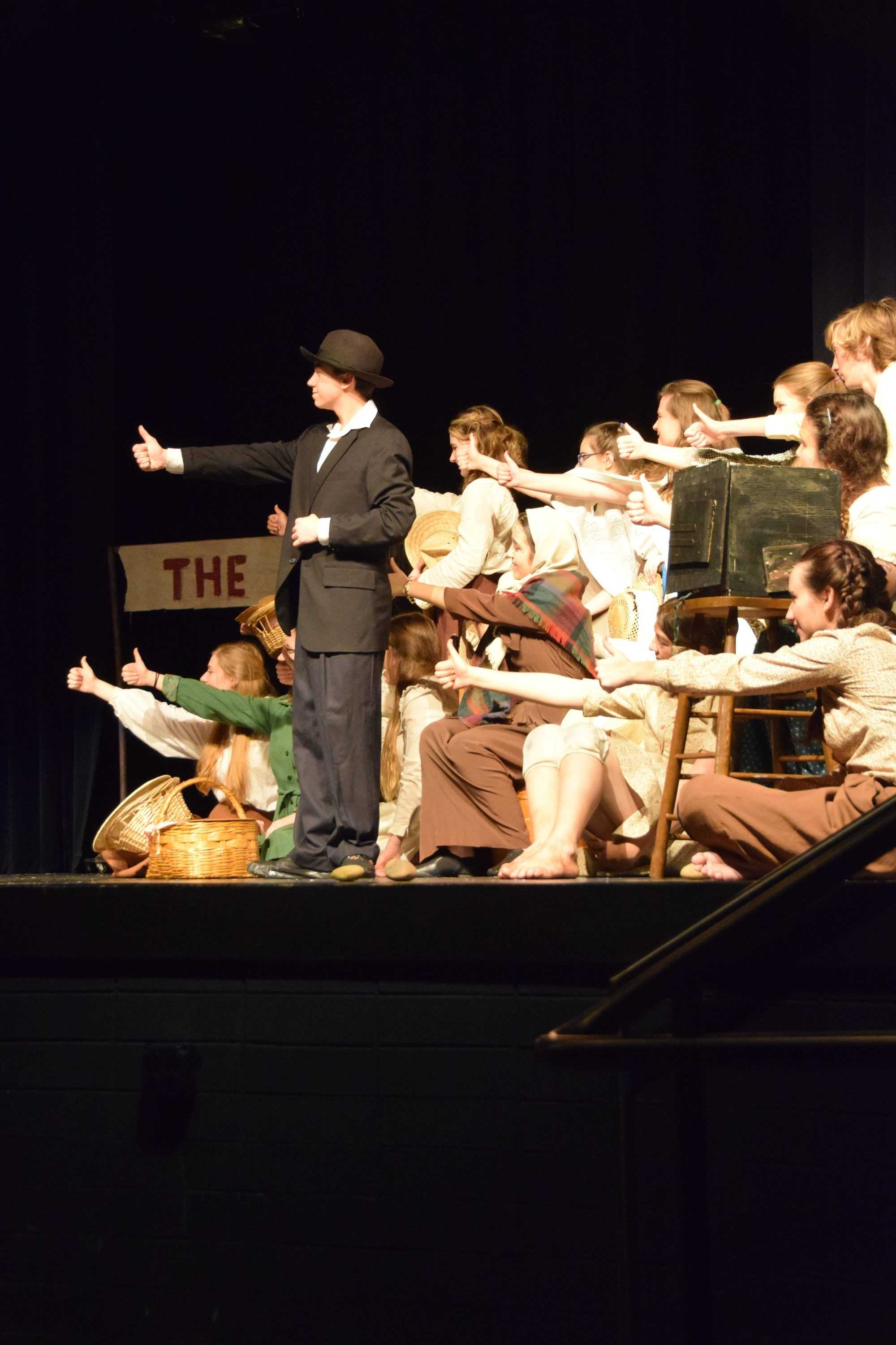 Theater III's and IV's went to the VHSL Regional Competition for their outstanding production of The Lottery