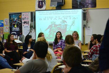 British students visit Yorktown seniors enrolled in AP U.S. Government