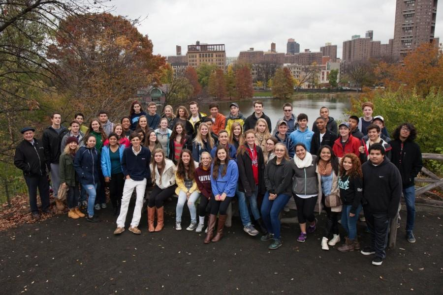 The AP Spanish class on their field trip to New York City