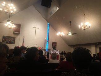Dr. Lee speaks at Mt. Salvation Baptist Church