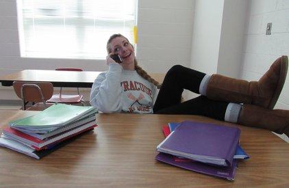 Yorktown senior Maddie Silk experiencing senioritis