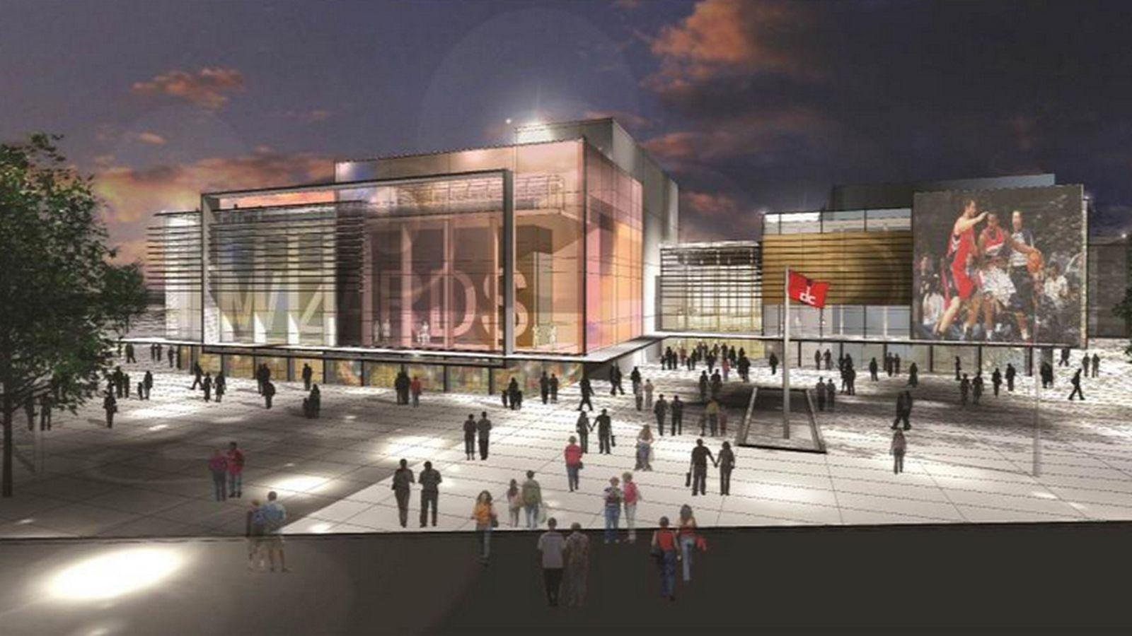 Concept art of what the Washington Wizards want their new practice facility to look like