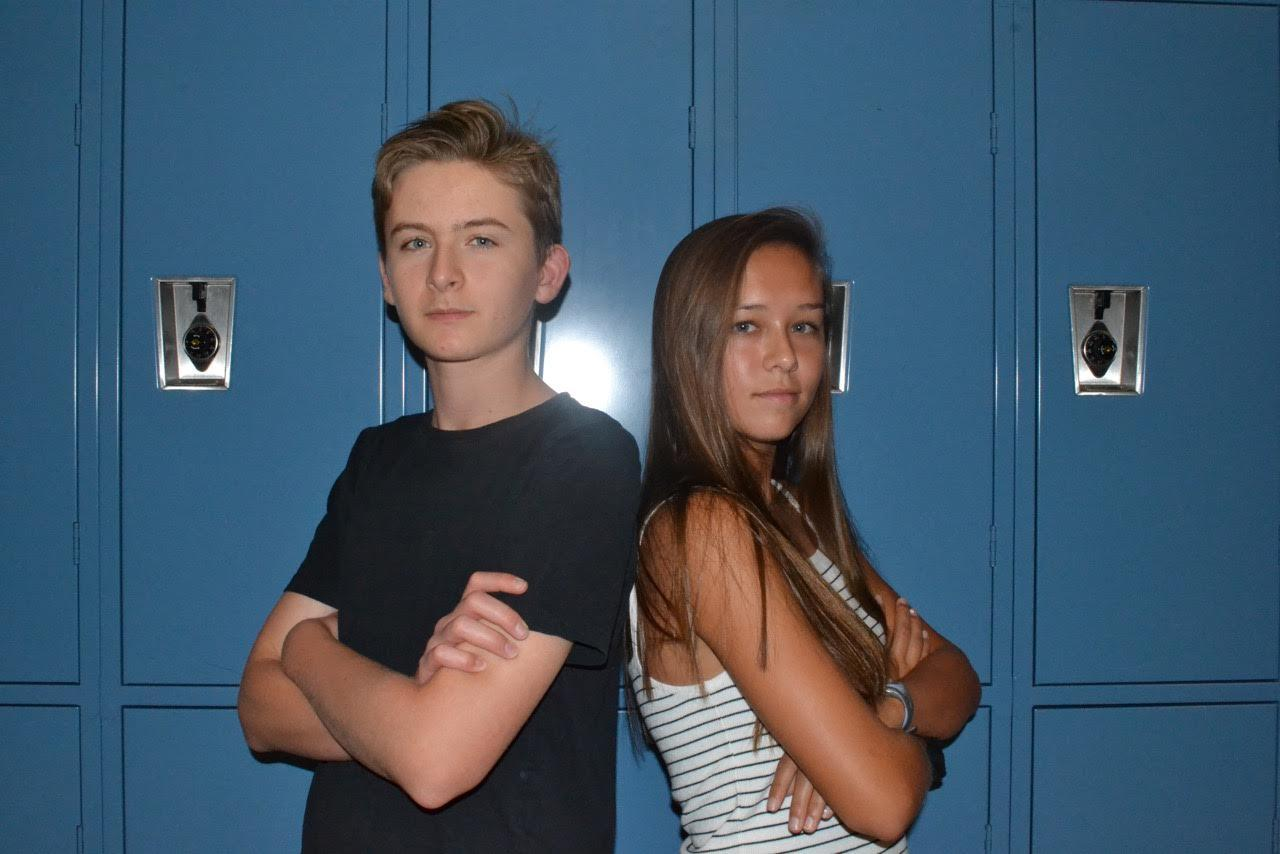 Jack Cline and Claire Kuwana stand back to back, ready to make this year a great one.