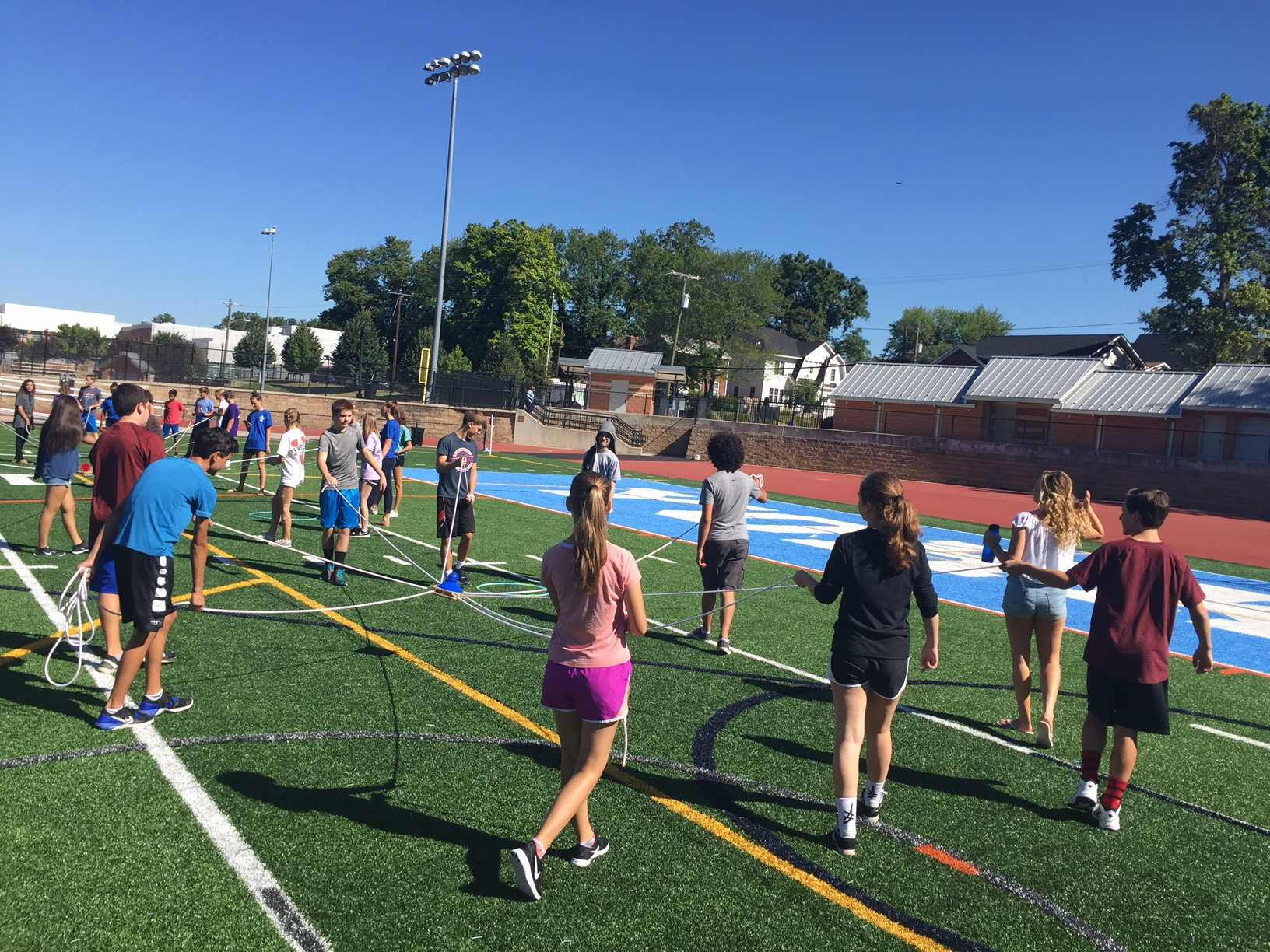 Freshmen work together to face an assortment of challenging games.