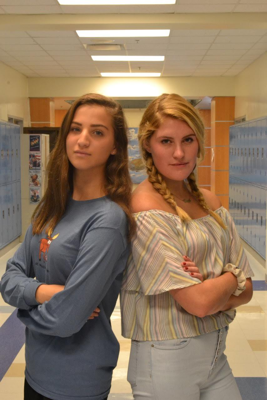 Nina Rutzen and Maggie Keane fiercely pose for The Sentry.