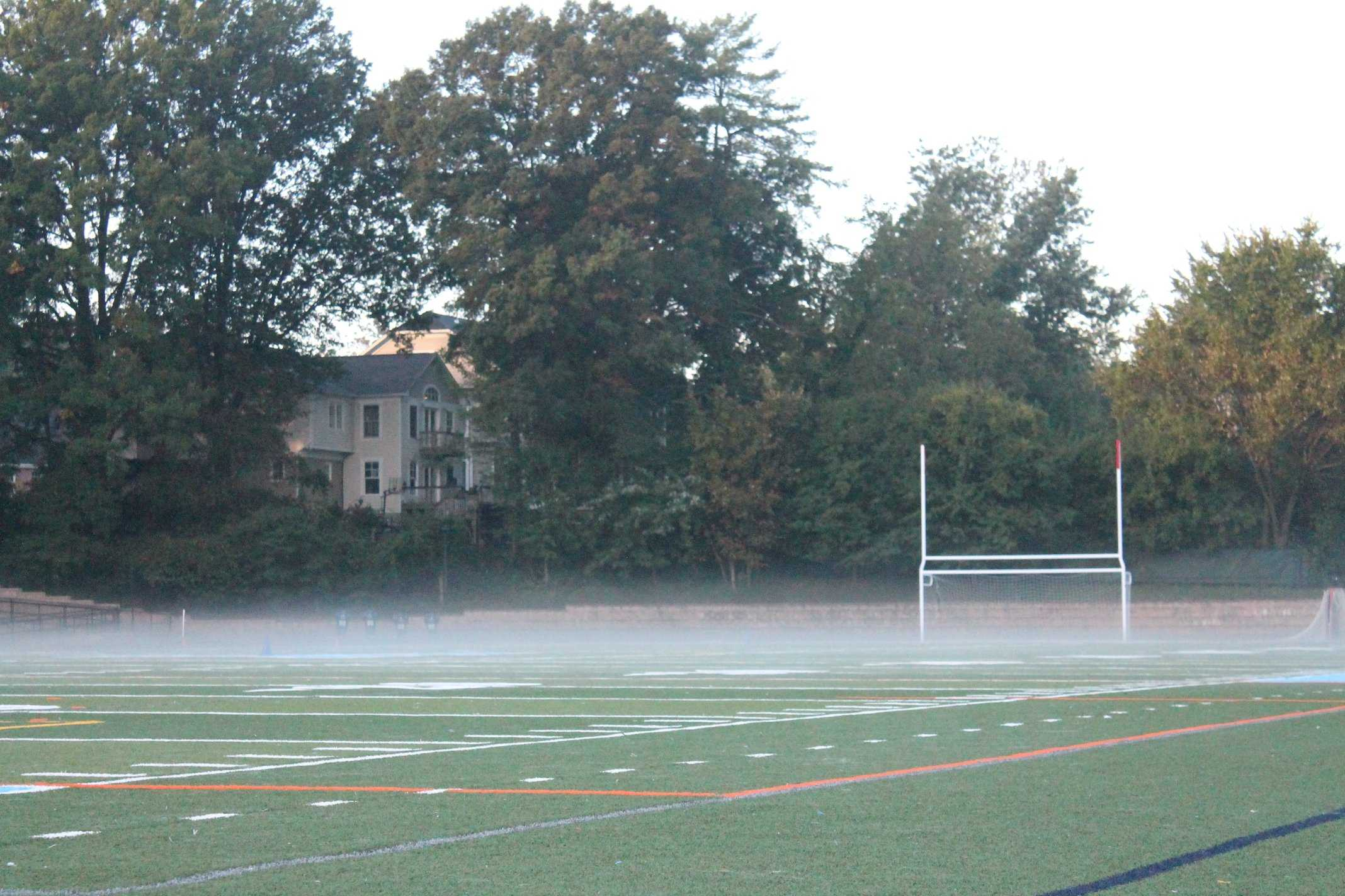 The Yorktown football field, where Friday night lights comes to life