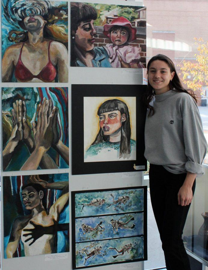 Senior Julia Sachs is being highlighted for her incredible artwork
