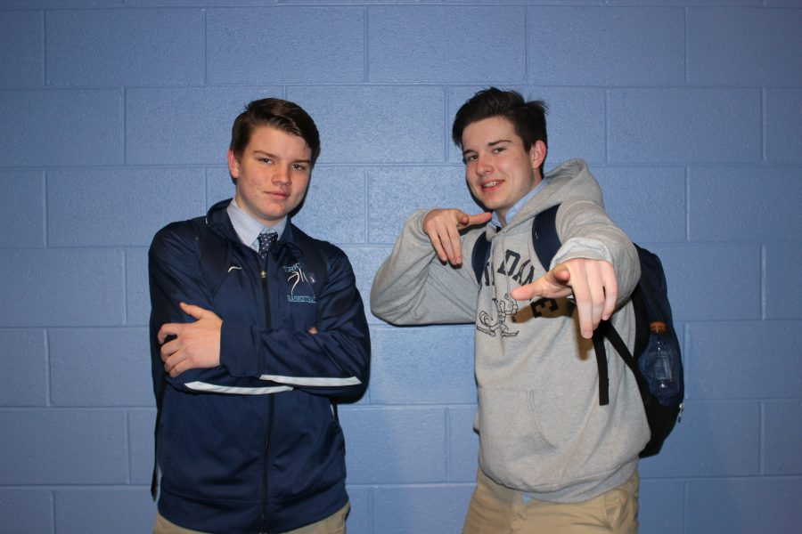 Sophomore Ryan Van Kirk and Senior Connor Van Kirk, are both on the varsity basketball team
