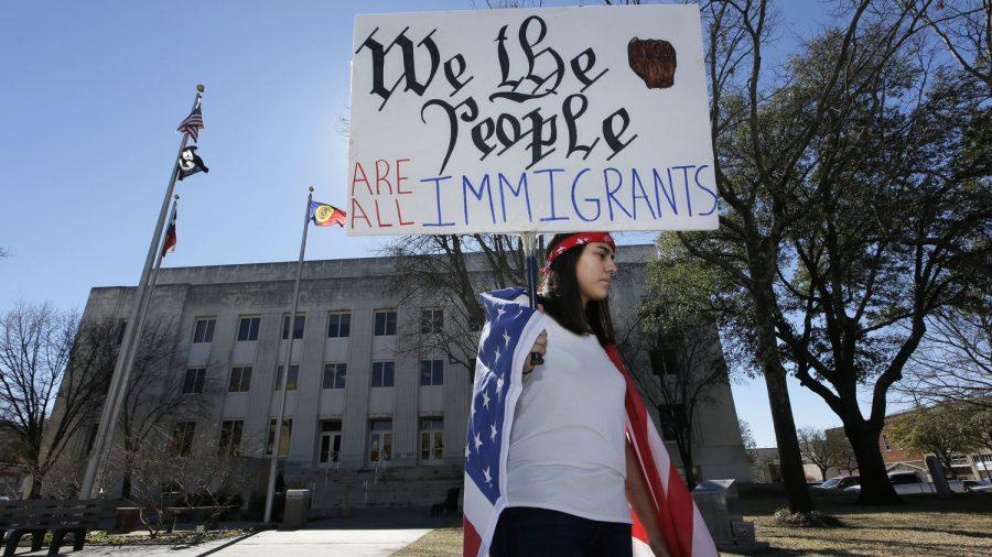Large+crowds+gathered+to+protest+during+the+Day+Without+Immigrants