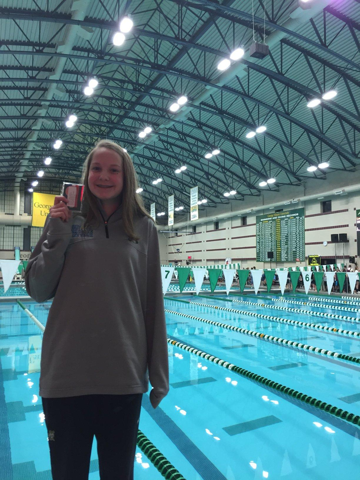 Mary Kate Reicheiter went to states for swimming