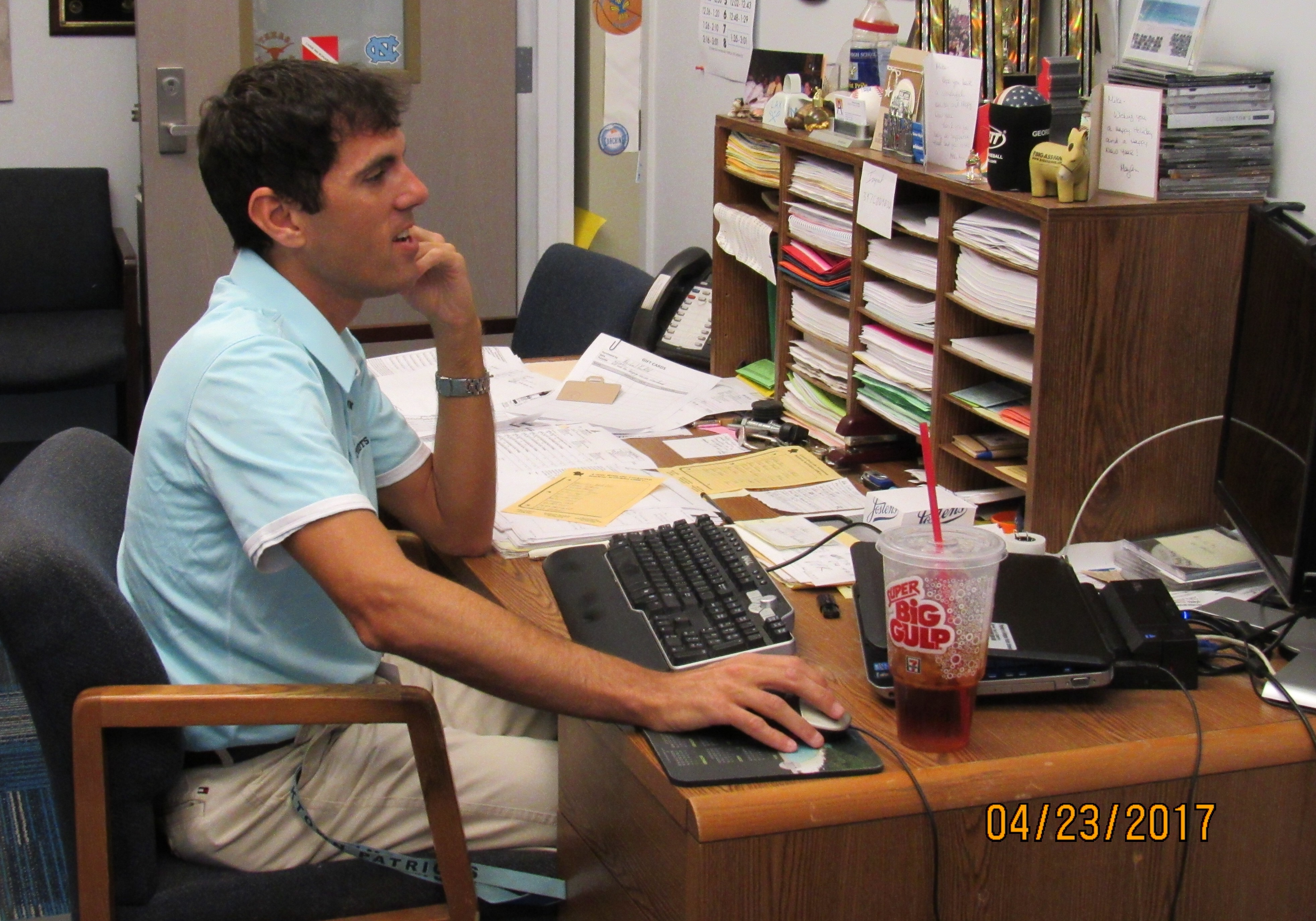 Krulfeeld, the Director of Student Activities, has a busy life at school