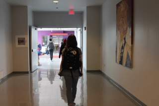Students take laps around the school during the day