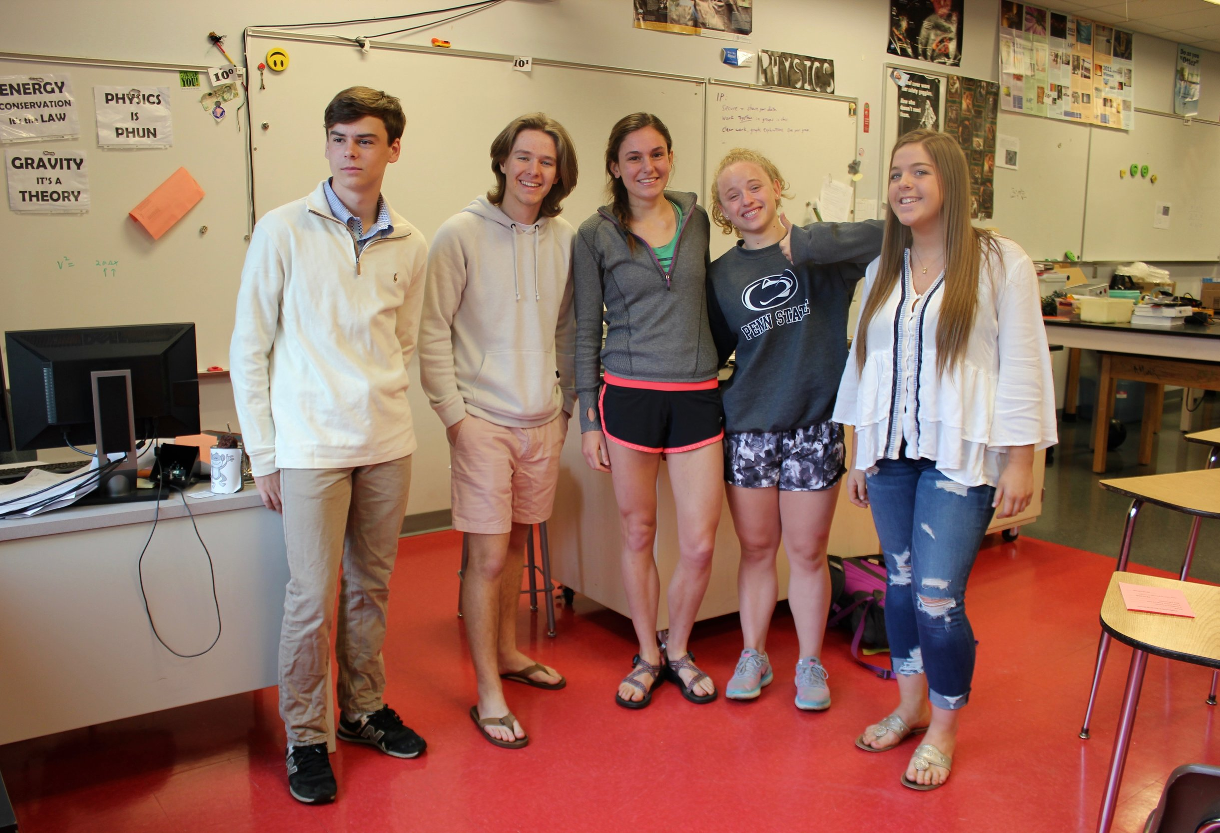 Students wear a mix of shorts, jeans and long sleeves to handle the different temperatures in school