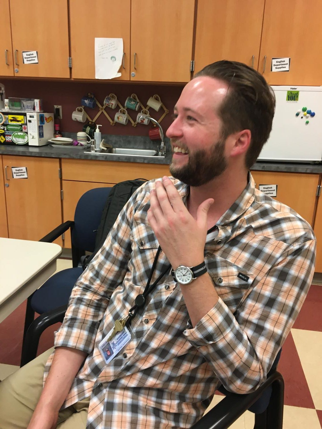 After moving to Portland, Oregon, teacher Chris Mauthe realized how much he missed working with students.