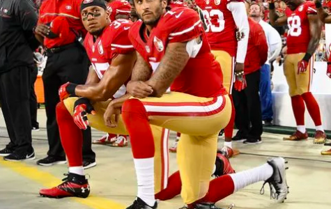 Colin Kaepernick took a knee during the national anthem to protest police brutality.