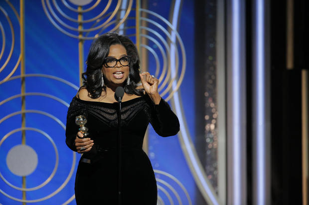 Perhaps the most talked about event of the Globes was Oprah Winfrey's acceptance speech for the Cecil B. de Mille lifetime achievement award.