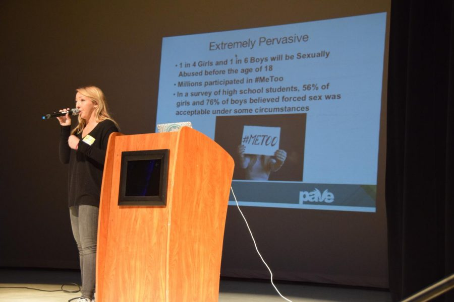 On March 21, the senior class went to the auditorium to listen to PAVE's message about sexual assault.