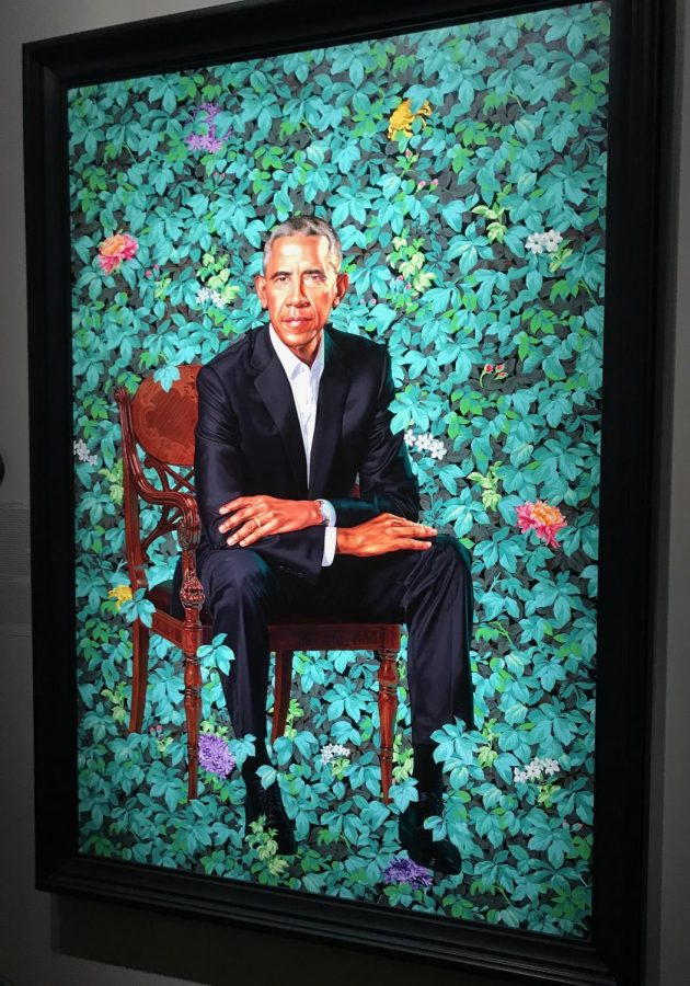 The National Portrait Gallery unveiled the latest paintings in the Presidential Portraits collection: the official portraits of President Barack Obama and First Lady Michelle Obama.