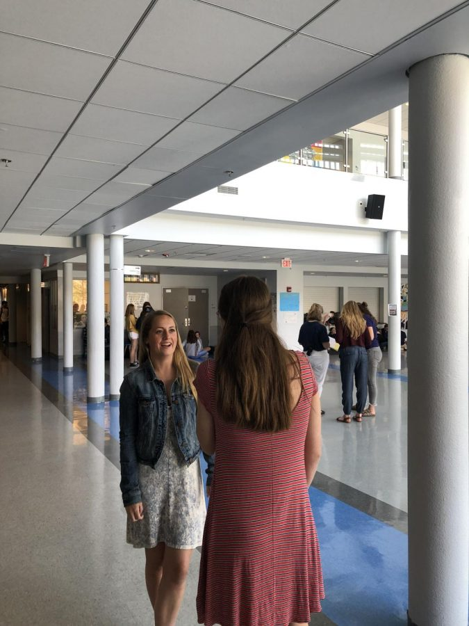 Some of the best conversations are those overheard by other people walking in the halls while you lap or walk to class.