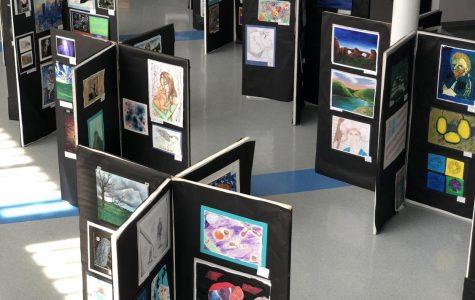 The Yorktown Art Show located in the atrium.