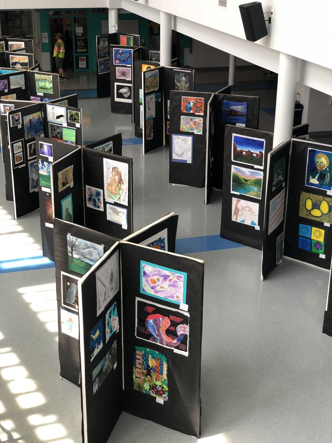 The Yorktown Art Show located in the atrium.