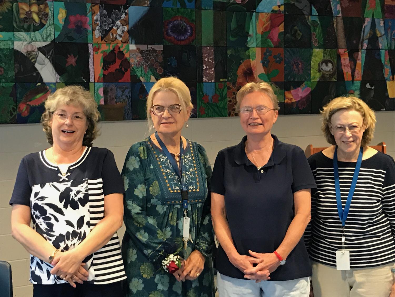 Yorktown's retiring teachers - Kay Griffith, Anya Gan, Orpha Durgin, Bobbi Steinberg