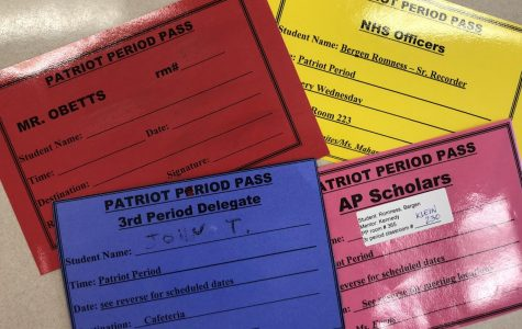 Patriot Period passes given to students.