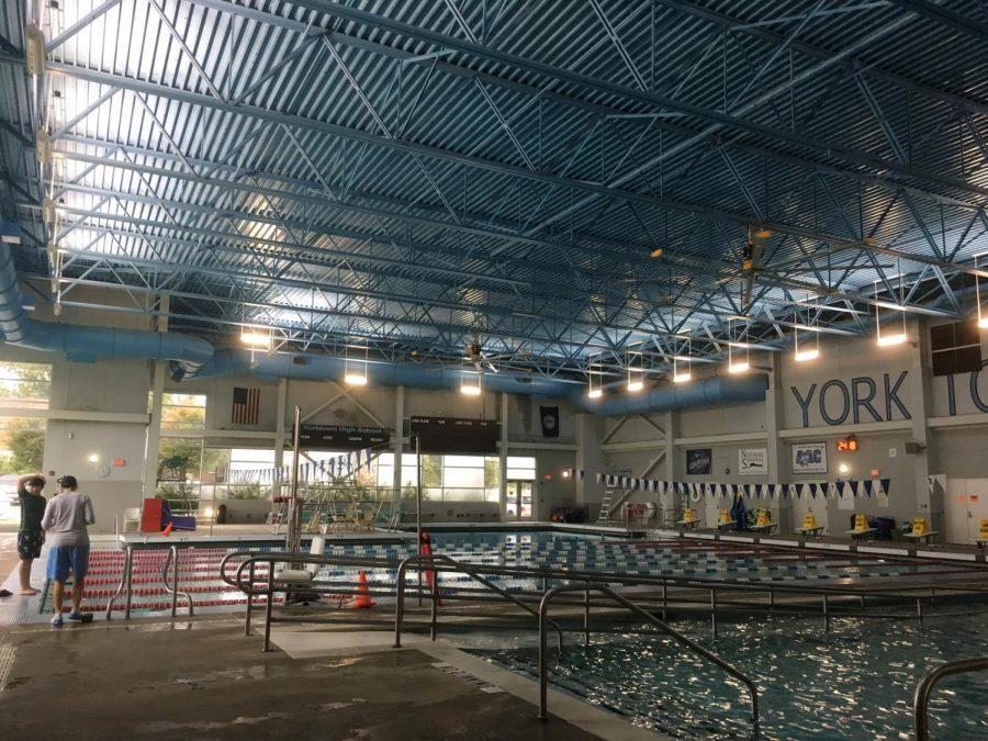 The Yorktown swimming pool hosts the swim-unit