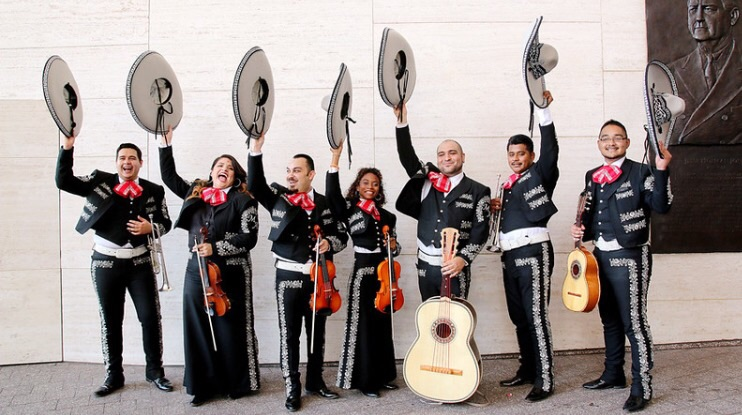 Mariachi band to follow someone for the day