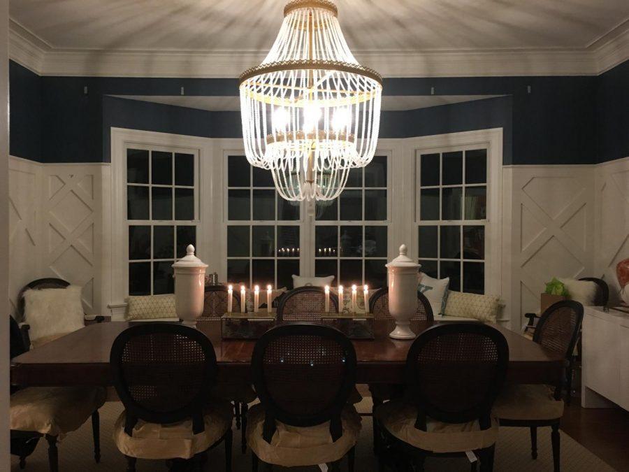 Holiday dinner setting for relatives