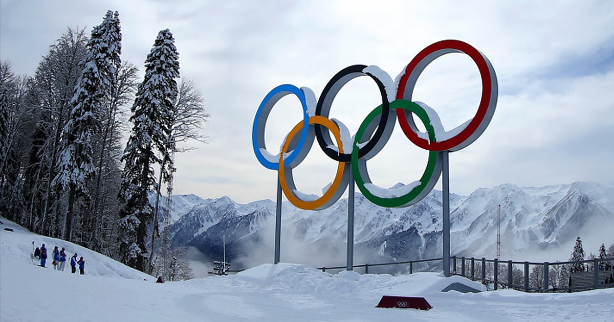 Winter Olympics rings 2018, Pyeong Chang