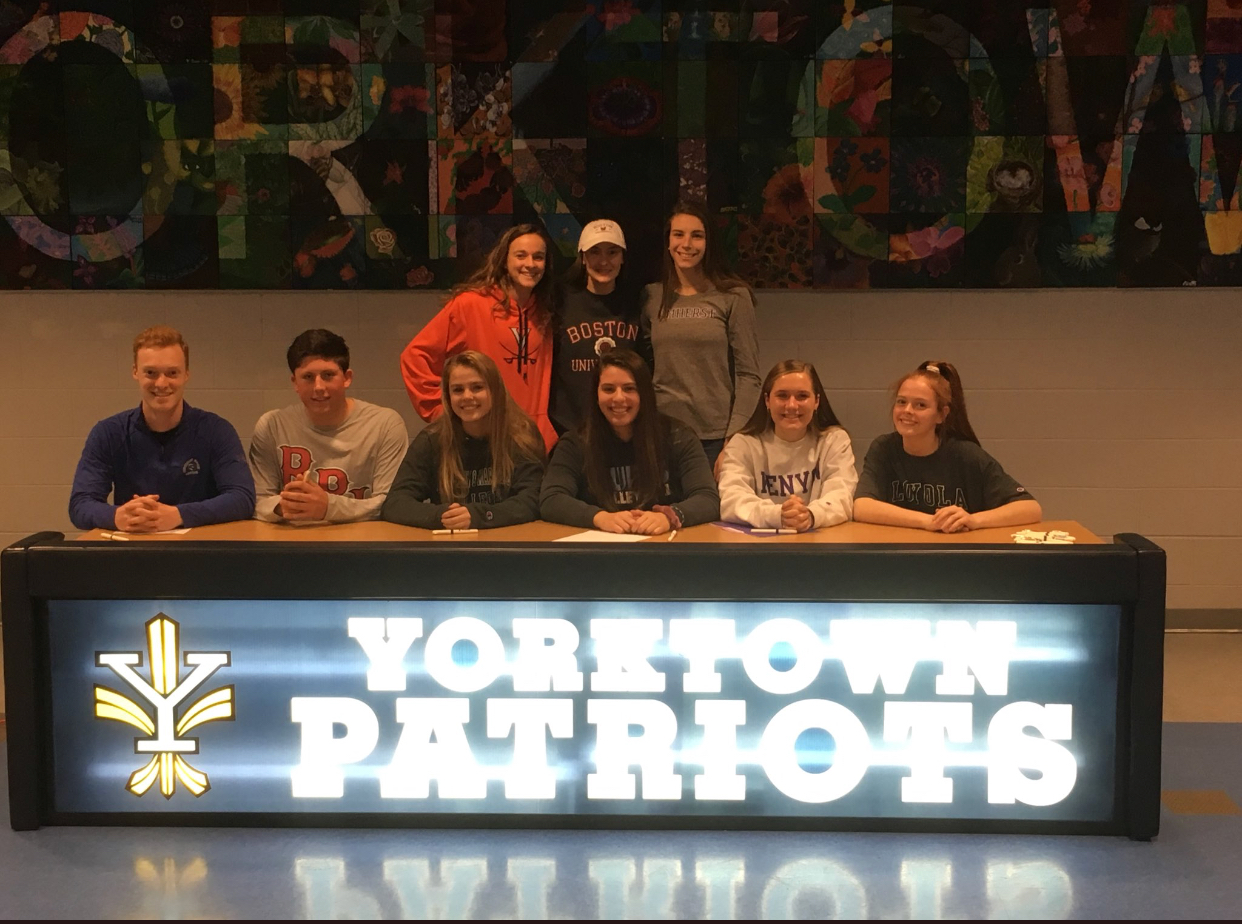 Yorktown students on National Signing Day