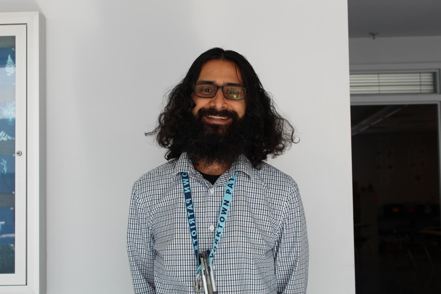 Mr. Raut has adapted to Yorktown, working with the Best Buddies chapter and co-teaching General Education classes.