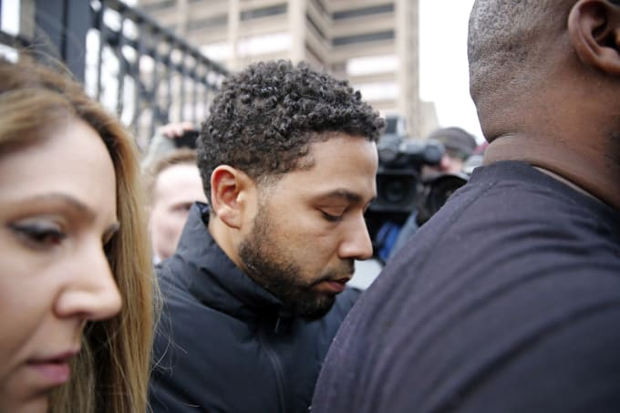 Jussie Smollett faked a hate crime in February.