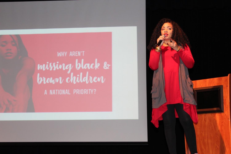 Tiffany D. Jackson speaks at Yorktown regarding her book, Monday's Not Coming