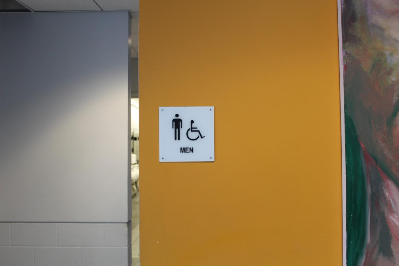 A popular choice, the men's room