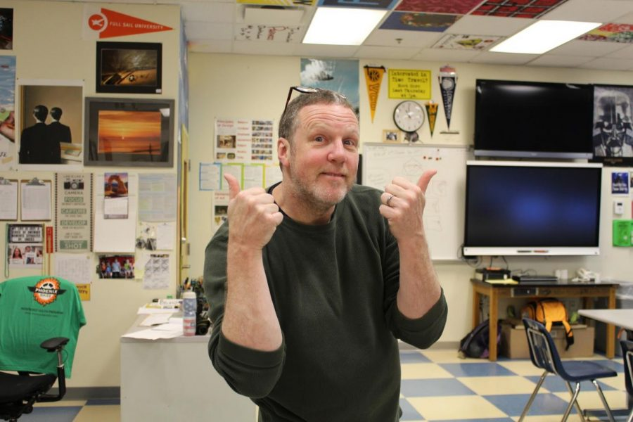 Mr. Beland gives a thumbs up