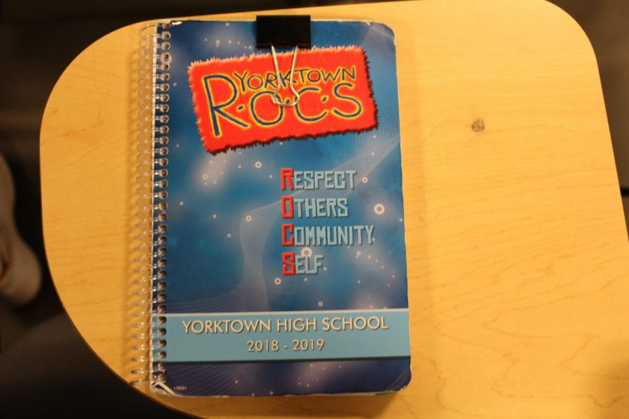 The agendas given to students have limited space.