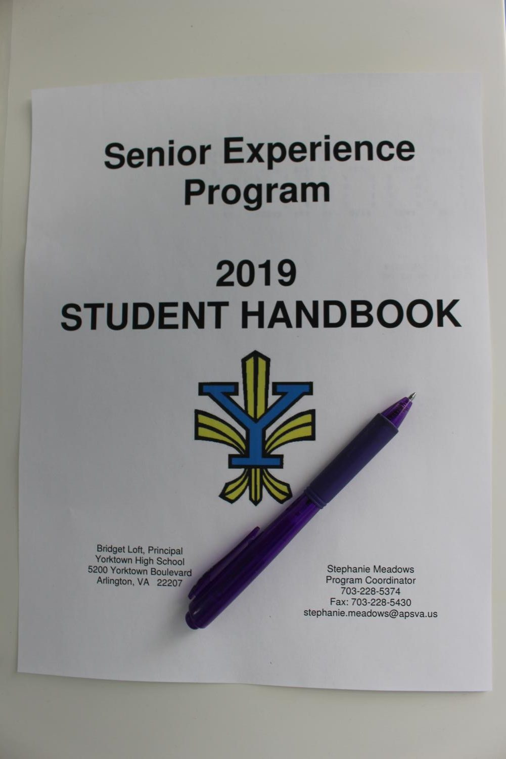 Students prepare for Senior Experience using their handbooks