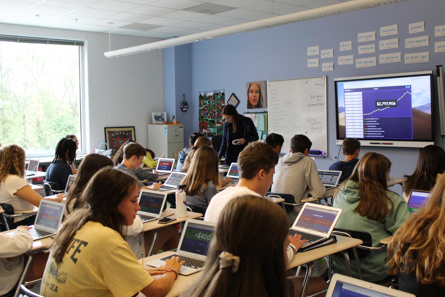 Many classes have up to 35 students.