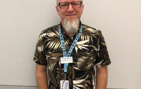 New teacher Greg Rusk teaches AP Computer Science Principles.