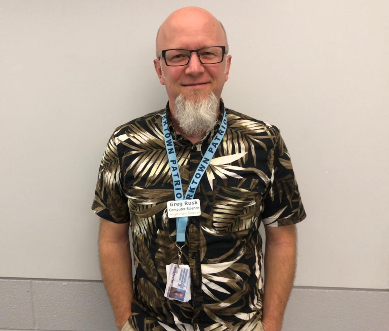 New teacher Greg Rusk teaches AP Computer Science Principles.