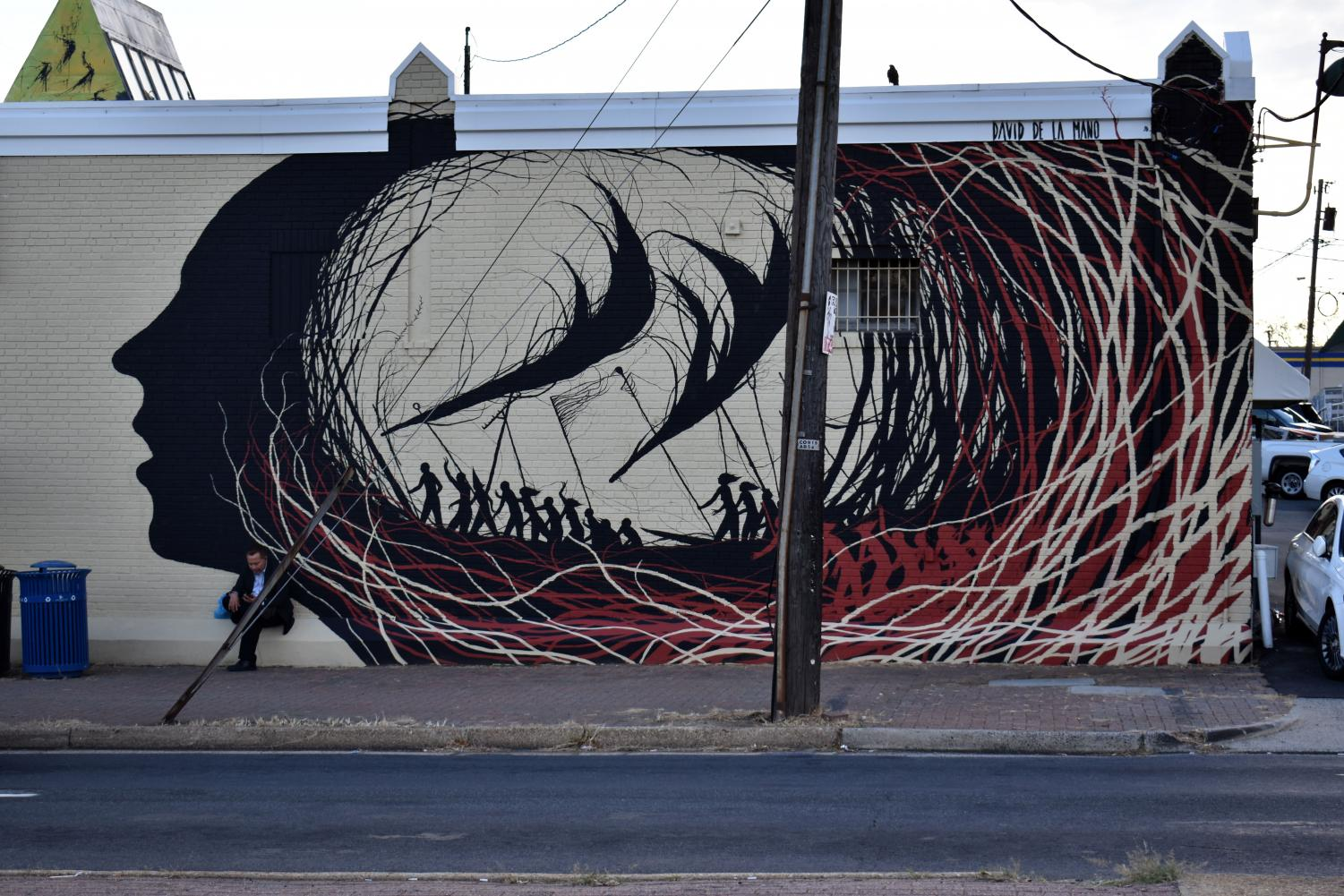 This mural can be found on Glebe Road.