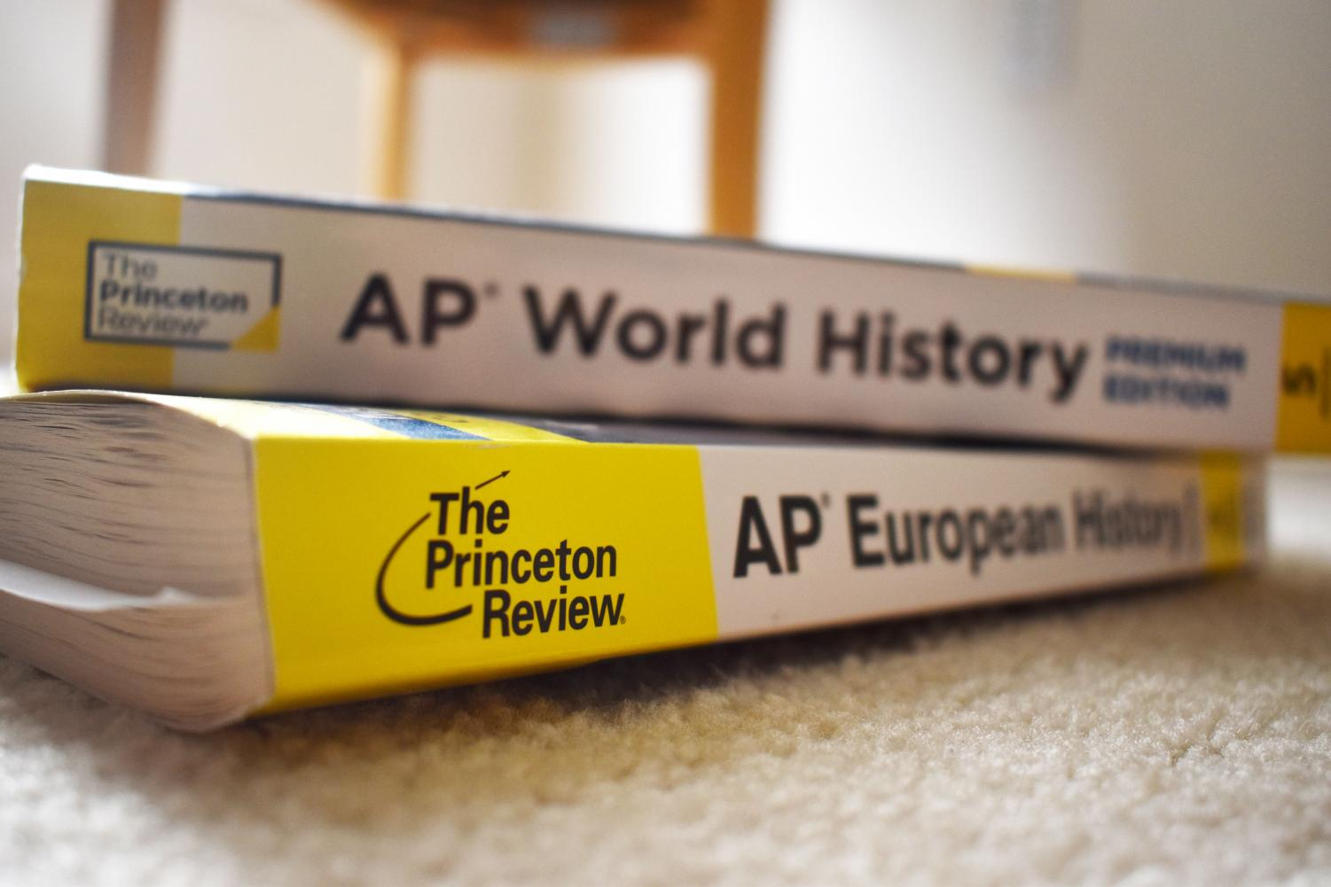 The Princeton Review books are used by students to review for the AP tests.